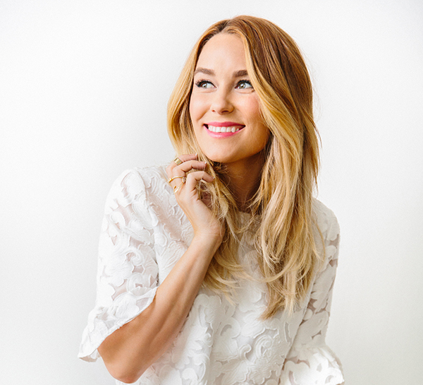lauren conrad in a lace top